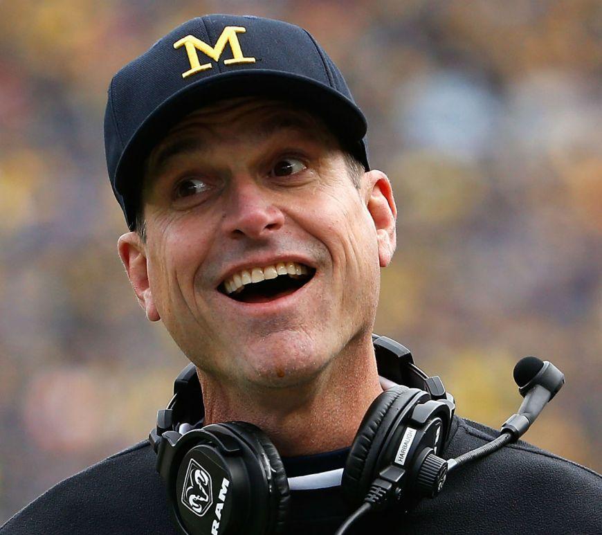 Michigan Wolverines' Head Coach, Jim Harbaugh